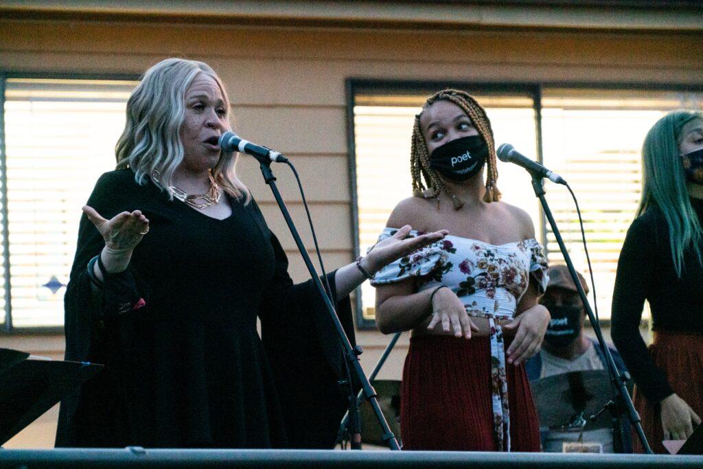 LaRhonda Steele (left)